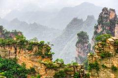 Fantastic view of narrow natural wall of rock Avatar Mountains stock images