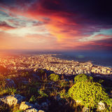 Fantastic view of the nature reserve Monte Cofano. Dramatic scene Royalty Free Stock Photo