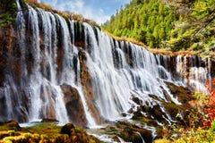 Fantastic view of the Nuo Ri Lang Waterfall Nuorilang royalty free stock photos