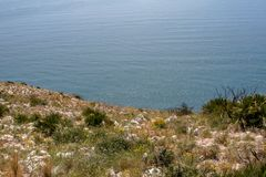 Fantastic view over the sea of Spain stock image