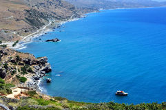 Fantastic view of Preveli Beach Royalty Free Stock Images