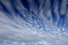 Fantastic view of the sky at sunset with cumulus clouds Royalty Free Stock Image