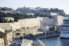 Malta harbour cityscape Royalty Free Stock Images