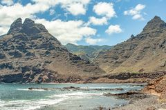 Fantastic view to the mountain from tenerife stock photo