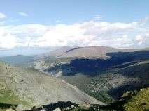Fantastic view from the top of the Ural Mountains. stock photography