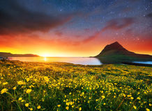 Fantastic views the landscape of Iceland. Stock Images