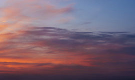 Fantastic views of the pink sky at sunset with clouds Royalty Free Stock Photos