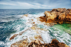 Fantastic views of the sea with blue sky. Stock Images