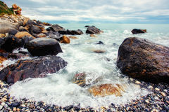 Fantastic views of the sea with blue sky. Royalty Free Stock Images
