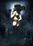Fantastic She Warrior Royalty Free Stock Photography
