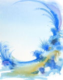 Fantastic watercolor painting Stock Image