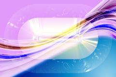 Fantastic wave background design illustration. Fantastic elegant wave background design illustration stock photos