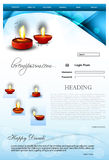 Fantastic Website Beautiful stylish happy diwali t Royalty Free Stock Photo