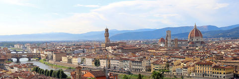 Fantastic wide view of Florence with Palazzo Vecchio and the Arn. Fantastic wide view of Florence in Italy with Old Palace called Palazzo Vecchio in italian and Stock Photos
