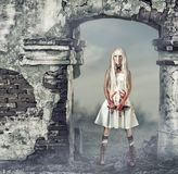 Fantastic woman in style of doll killer Stock Photo