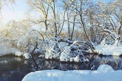 Fantastic wonderful frosty winter landscape. royalty free stock photos