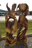 Fantastic wood carvings in Chetwynd, BC. Fantastic wood carvings in Chetwynd, British Columbia, Canada royalty free stock photography