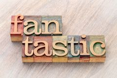 Fantastic word abstract in wood type Stock Photography
