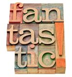 Fantastic word abstract in wood  type Stock Photo