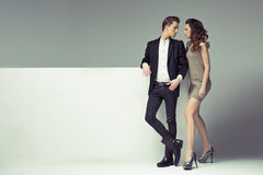 Fantastic couple looking into their eyes Stock Photos