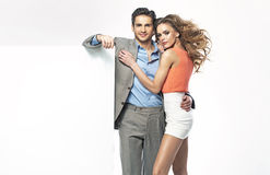 Fantastic young couple in new collection Royalty Free Stock Image