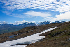 Fantastical clouds. Over mountains, Abisco National Park, Sweden Royalty Free Stock Image