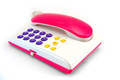 The fantastically pink telephone Stock Photo