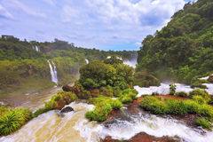 Fantastically waterfalls of Iguazu Stock Images