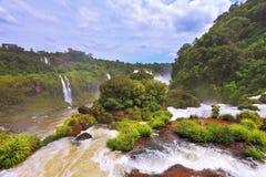Fantastically waterfalls of Iguazu Stock Images