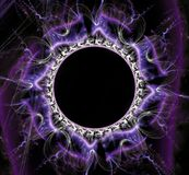 Fantastisch abstract kader in vorm van een cirkel Royalty-vrije Stock Foto