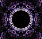 Fantastisch abstract kader in vorm van een cirkel stock illustratie