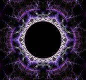 Fantastisch abstract kader in vorm van een cirkel Stock Fotografie
