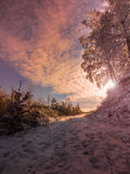 Fantastisch de winterlandschap Royalty-vrije Stock Afbeelding