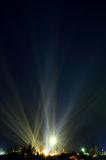 Fantastisch licht in de donkere hemel Stock Afbeeldingen