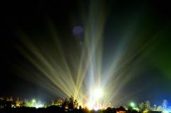Fantastisch licht in de donkere hemel Stock Fotografie