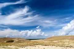 Fantastische aarde Overzees dichtbij woestijn Stock Foto