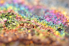 Fantastische achtergrond, magisch van een steen, regenboog in metaalrots Royalty-vrije Stock Afbeelding