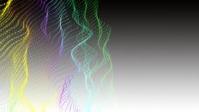Fantastische animatie met deeltjesvoorwerp in langzame motie, 4096x2304-lijn 4K stock video