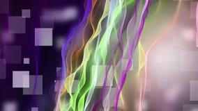 Fantastische animatie met golfvoorwerp in langzame motie, 4096x2304-lijn 4K stock videobeelden