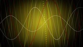 Fantastische animatie met het bewegen van het voorwerp van de deeltjesstreep, 4096x2304-lijn 4K stock videobeelden