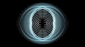 Fantastische animatie met het bewegen van het voorwerp van de deeltjesstreep, 4096x2304-lijn 4K stock footage