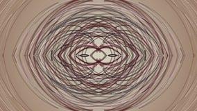 Fantastische animatie met het bewegen van het voorwerp van de deeltjesstreep, 4096x2304-lijn 4K stock video