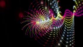 Fantastische animatie met het voorwerp van de deeltjesstreep in langzame motie, 4096x2304-lijn 4K stock videobeelden