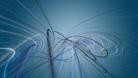 Fantastische Animation mit Partikelstreifengegenstand in der Zeitlupe, 4096x2304 Schleife 4K lizenzfreie abbildung