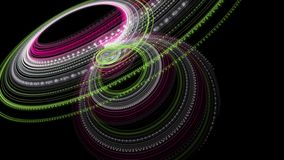 Fantastische Animation mit Partikelstreifengegenstand in der Zeitlupe, 4096x2304 Schleife 4K