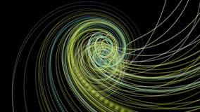 Fantastische Animation mit Partikelstreifengegenstand in der Zeitlupe, 4096x2304 Schleife 4K vektor abbildung