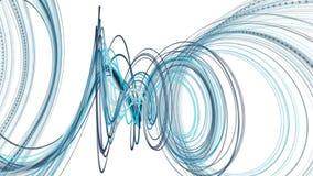 Fantastische Animation mit Partikelstreifengegenstand in der Zeitlupe, 4096x2304 Schleife 4K stock video