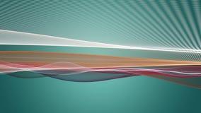 Fantastische Animation mit Partikelwellengegenstand in der Zeitlupe, 4096x2304 Schleife 4K lizenzfreie abbildung