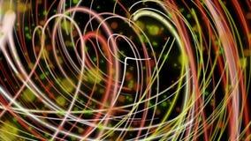 Fantastische Animation mit Streifengegenstand in der Bewegung, Schleife HD 1080p stock footage