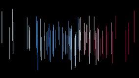Fantastische Animation mit Streifengegenstand in der Bewegung, Schleife HD 1080p lizenzfreie abbildung